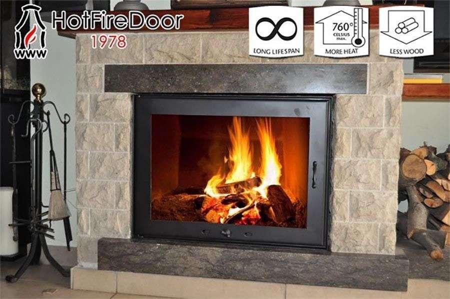 Puertas de vidrio térmicas para chimeneas